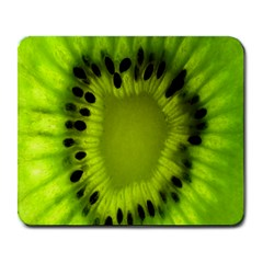 Kiwi Fruit Slices Cut Macro Green Large Mousepads by Alisyart