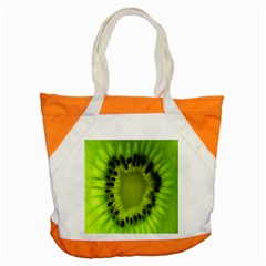 Kiwi Fruit Slices Cut Macro Green Accent Tote Bag by Alisyart