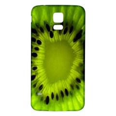 Kiwi Fruit Slices Cut Macro Green Samsung Galaxy S5 Back Case (white) by Alisyart