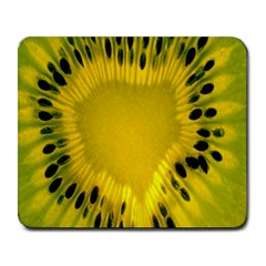 Kiwi Fruit Slices Cut Macro Green Yellow Large Mousepads by Alisyart