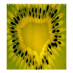 Kiwi Fruit Slices Cut Macro Green Yellow Shower Curtain 66  X 72  (large)  by Alisyart