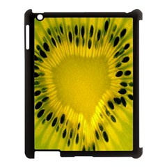 Kiwi Fruit Slices Cut Macro Green Yellow Apple Ipad 3/4 Case (black) by Alisyart