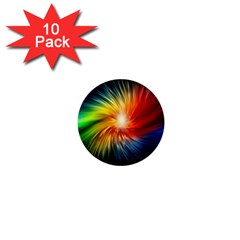 Lamp Light Galaxy Space Color 1  Mini Buttons (10 Pack)  by Alisyart
