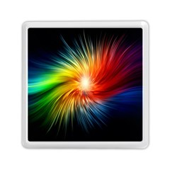 Lamp Light Galaxy Space Color Memory Card Reader (square)  by Alisyart