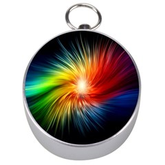 Lamp Light Galaxy Space Color Silver Compasses by Alisyart