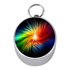 Lamp Light Galaxy Space Color Mini Silver Compasses by Alisyart