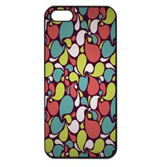 Leaf Camo Color Flower Apple Iphone 5 Seamless Case (black) by Alisyart
