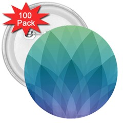 Lotus Events Green Blue Purple 3  Buttons (100 Pack)  by Alisyart