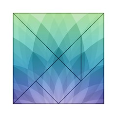 Lotus Events Green Blue Purple Acrylic Tangram Puzzle (6  X 6 ) by Alisyart