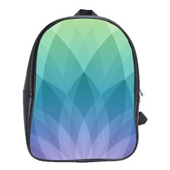 Lotus Events Green Blue Purple School Bags (xl)  by Alisyart