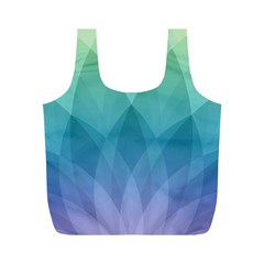Lotus Events Green Blue Purple Full Print Recycle Bags (m)  by Alisyart