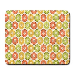 Lime Orange Fruit Slice Color Large Mousepads by Alisyart