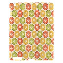 Lime Orange Fruit Slice Color Apple Ipad 3/4 Hardshell Case by Alisyart