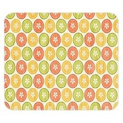 Lime Orange Fruit Slice Color Double Sided Flano Blanket (small)  by Alisyart