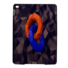 Low Poly Figures Circles Surface Orange Blue Grey Triangle Ipad Air 2 Hardshell Cases by Alisyart