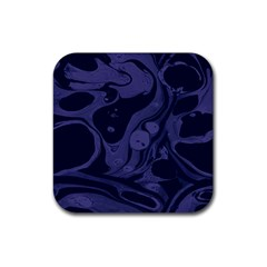 Marble Blue Marbles Rubber Square Coaster (4 Pack)  by Alisyart