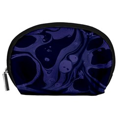 Marble Blue Marbles Accessory Pouches (large)  by Alisyart