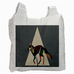 Nature Animals Artwork Geometry Triangle Grey Gray Recycle Bag (one Side) by Alisyart