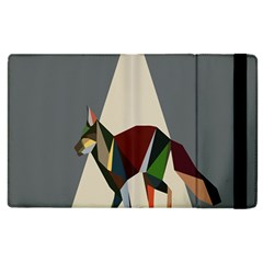 Nature Animals Artwork Geometry Triangle Grey Gray Apple Ipad 2 Flip Case by Alisyart
