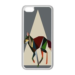 Nature Animals Artwork Geometry Triangle Grey Gray Apple Iphone 5c Seamless Case (white) by Alisyart