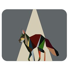 Nature Animals Artwork Geometry Triangle Grey Gray Double Sided Flano Blanket (medium)  by Alisyart