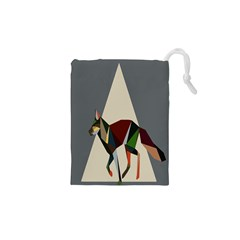Nature Animals Artwork Geometry Triangle Grey Gray Drawstring Pouches (xs)  by Alisyart