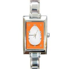 Orange White Egg Easter Rectangle Italian Charm Watch