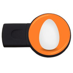 Orange White Egg Easter Usb Flash Drive Round (4 Gb) by Alisyart
