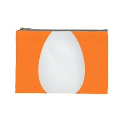 Orange White Egg Easter Cosmetic Bag (large)  by Alisyart