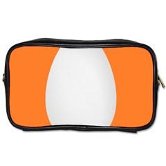 Orange White Egg Easter Toiletries Bags 2 Side by Alisyart