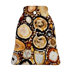 Natural Agate Mosaic Bell Ornament (two Sides) by Alisyart