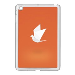 Origami Bird Animals White Orange Apple Ipad Mini Case (white) by Alisyart