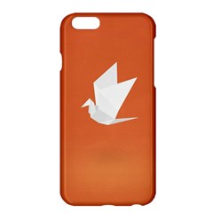 Origami Bird Animals White Orange Apple Iphone 6 Plus/6s Plus Hardshell Case