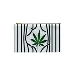 Marijuana Jail Leaf Green Black Cosmetic Bag (small)  by Alisyart