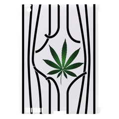 Marijuana Jail Leaf Green Black Apple Ipad 3/4 Hardshell Case (compatible With Smart Cover) by Alisyart