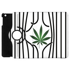 Marijuana Jail Leaf Green Black Apple Ipad Mini Flip 360 Case