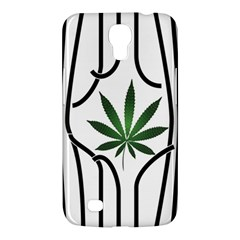 Marijuana Jail Leaf Green Black Samsung Galaxy Mega 6 3  I9200 Hardshell Case by Alisyart