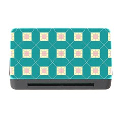 Regular Triangulation Plaid Blue Memory Card Reader With Cf by Alisyart
