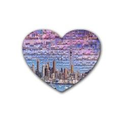 Auckland Travel Rubber Coaster (heart)