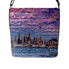 Auckland Travel Flap Messenger Bag (l)  by Nexatart