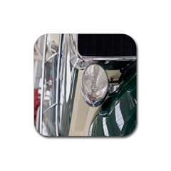 Auto Automotive Classic Spotlight Rubber Coaster (square)  by Nexatart