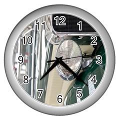 Auto Automotive Classic Spotlight Wall Clocks (silver)  by Nexatart