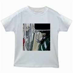 Auto Automotive Classic Spotlight Kids White T Shirts by Nexatart