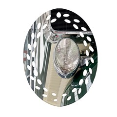 Auto Automotive Classic Spotlight Oval Filigree Ornament (two Sides) by Nexatart
