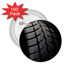 Auto Black Black And White Car 2 25  Buttons (100 Pack)