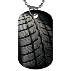 Auto Black Black And White Car Dog Tag (one Side) by Nexatart