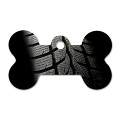 Auto Black Black And White Car Dog Tag Bone (two Sides) by Nexatart