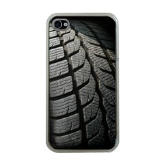 Auto Black Black And White Car Apple Iphone 4 Case (clear)
