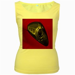 Auto Red Fast Sport Women s Yellow Tank Top by Nexatart