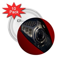 Auto Red Fast Sport 2 25  Buttons (10 Pack)  by Nexatart